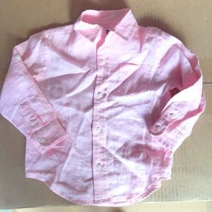 Janie and jack 100% linen shirt